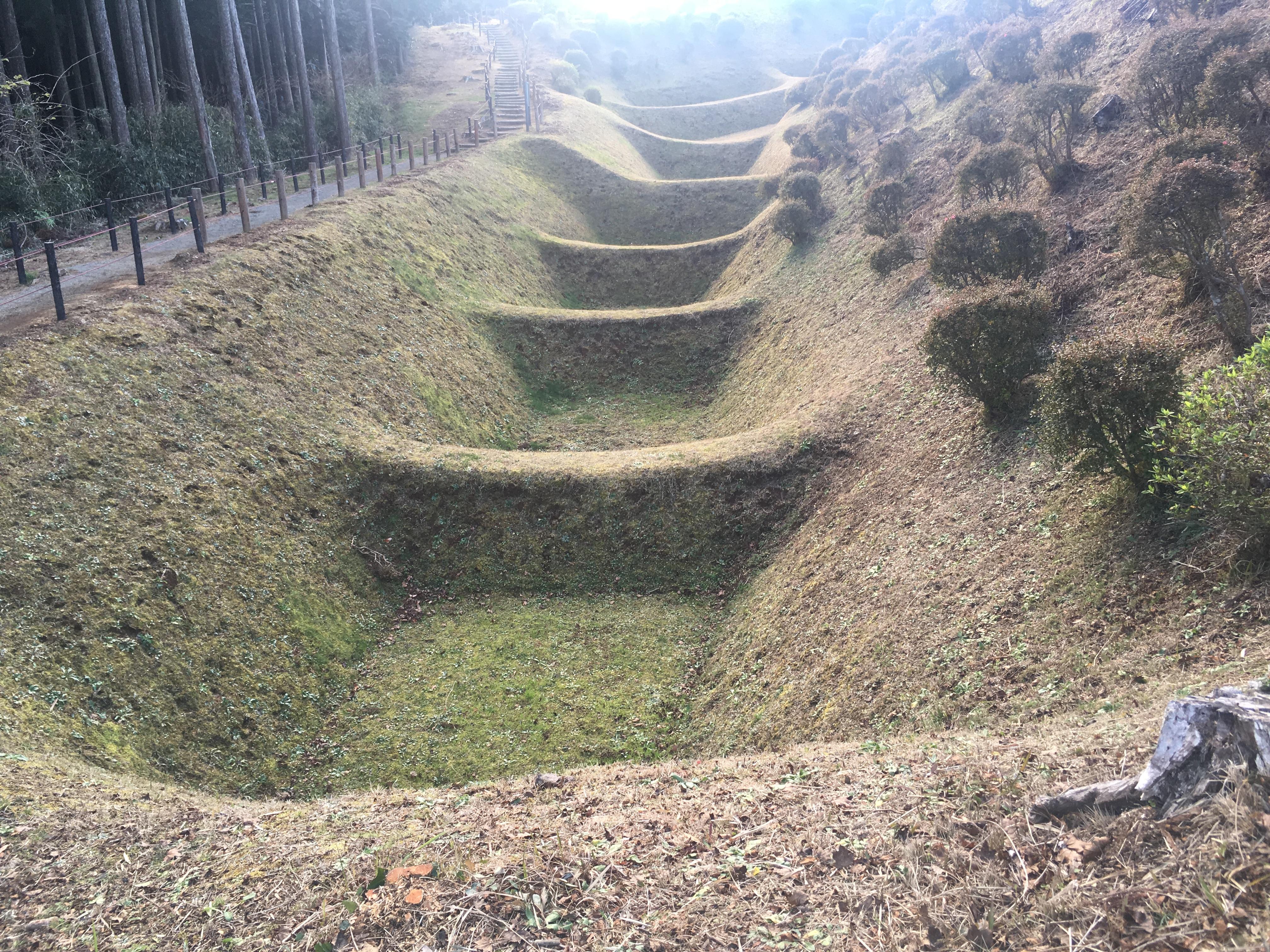 Yamanaka Castle fortifications